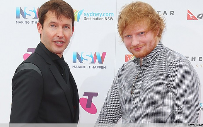 Ed Sheeran ha compuesto para el nuevo disco de James Blunt